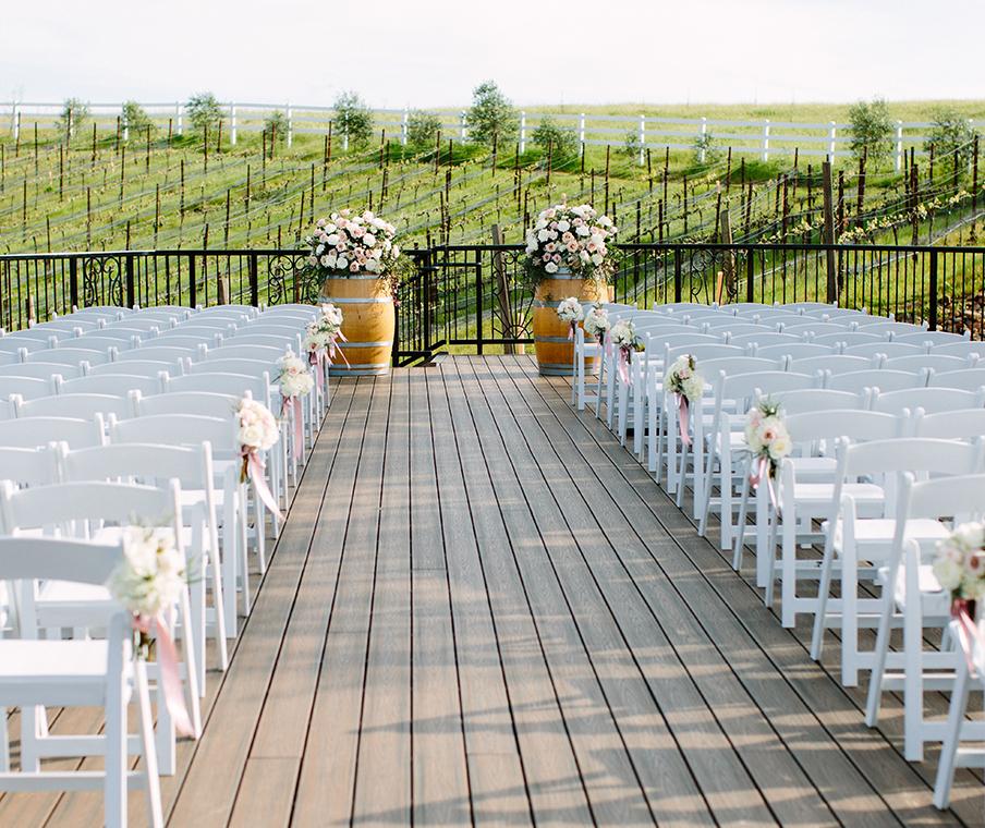 Outdoor Vineyard Wedding Ceremony