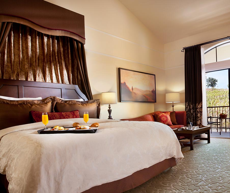 Breakfast in Bed at The Meritage Resort and Spa