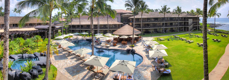 Kauai oceanfront pool and hotel