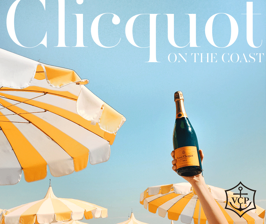 Veuve Bottle in the air