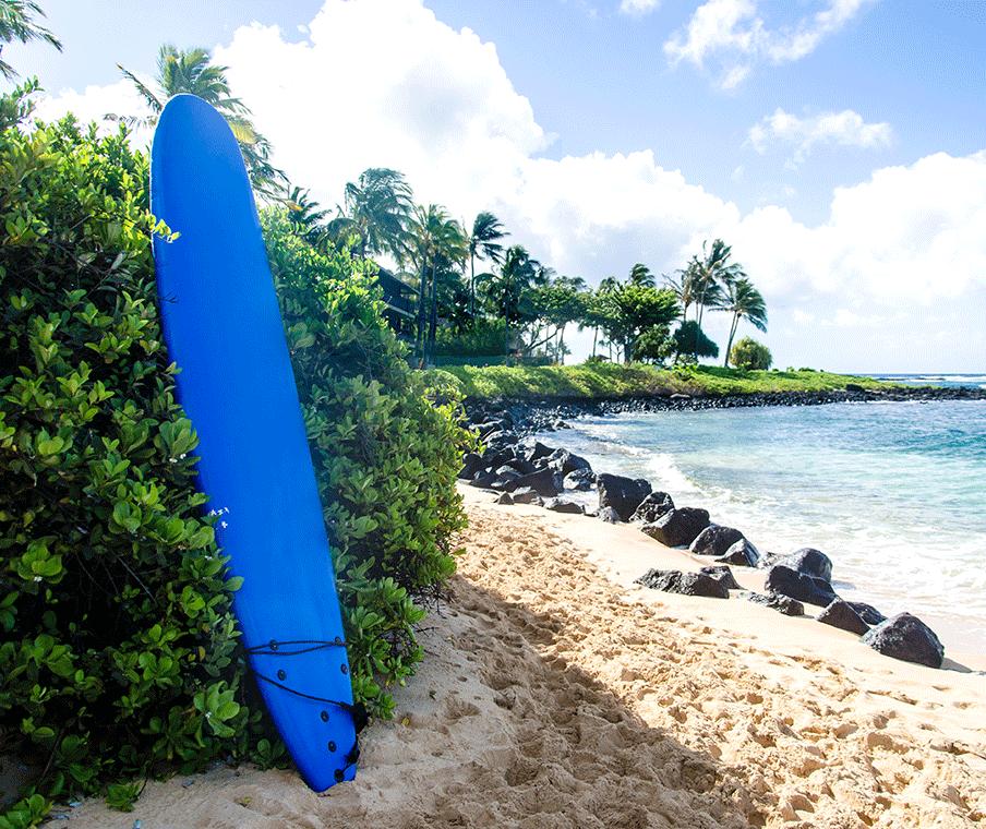 Poipu Beach Surf Board