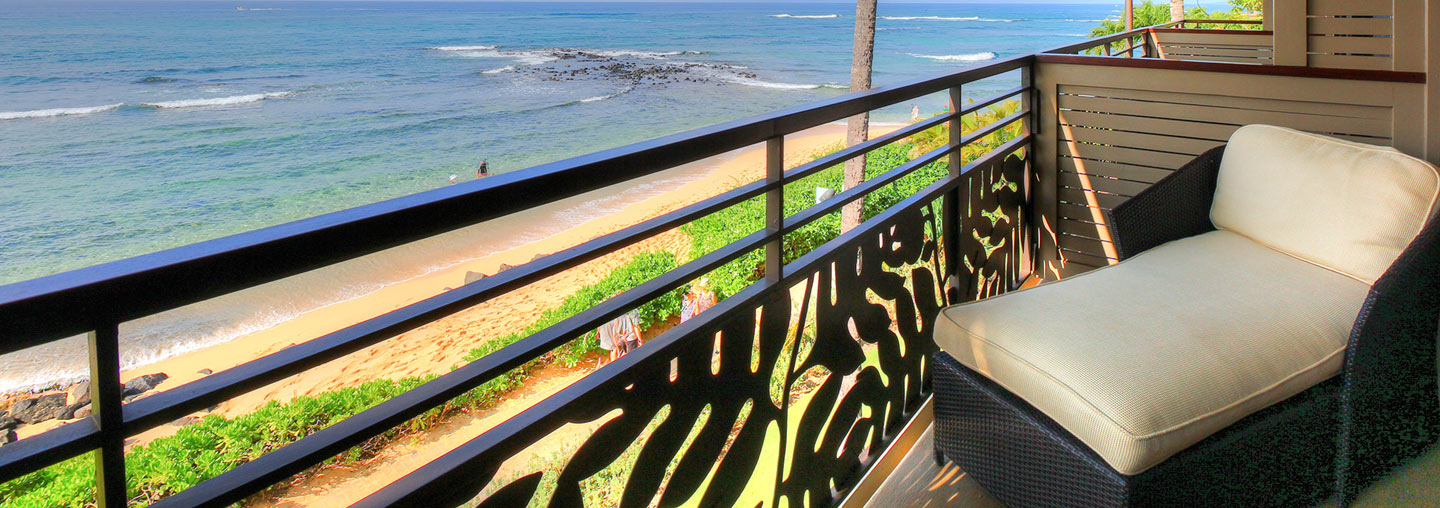 Hotel Room Balcony With Oceanfront View