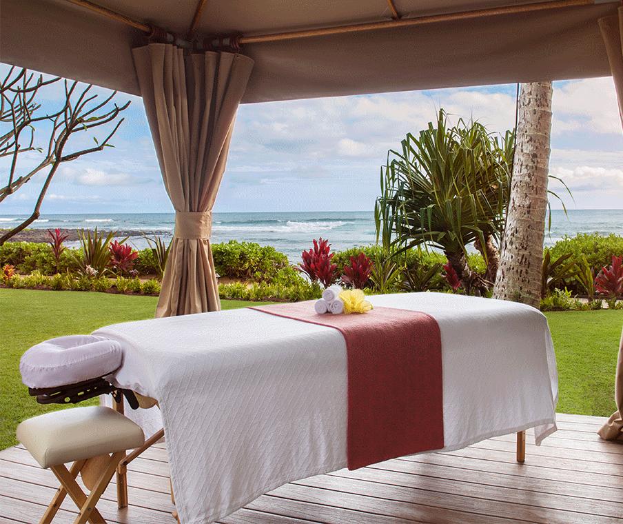 Oceanside massage cabana