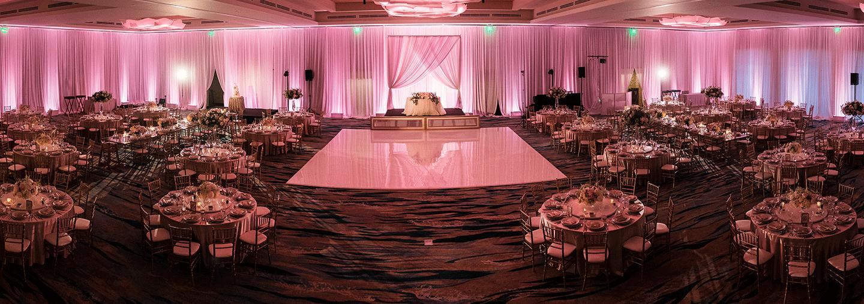 Sapphire Ballroom for a Pink Wedding