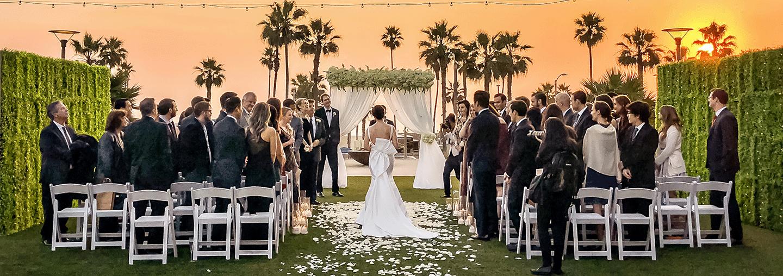 Lawn Wedding Venue With Ocean View