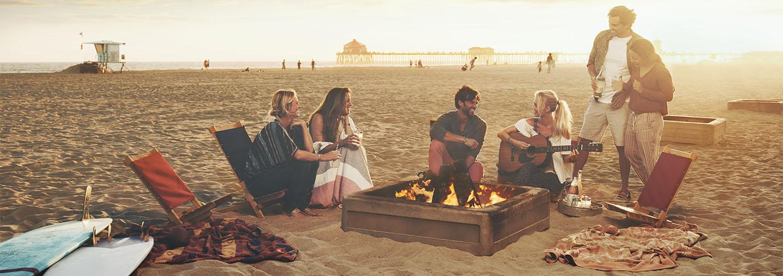 group on a beach