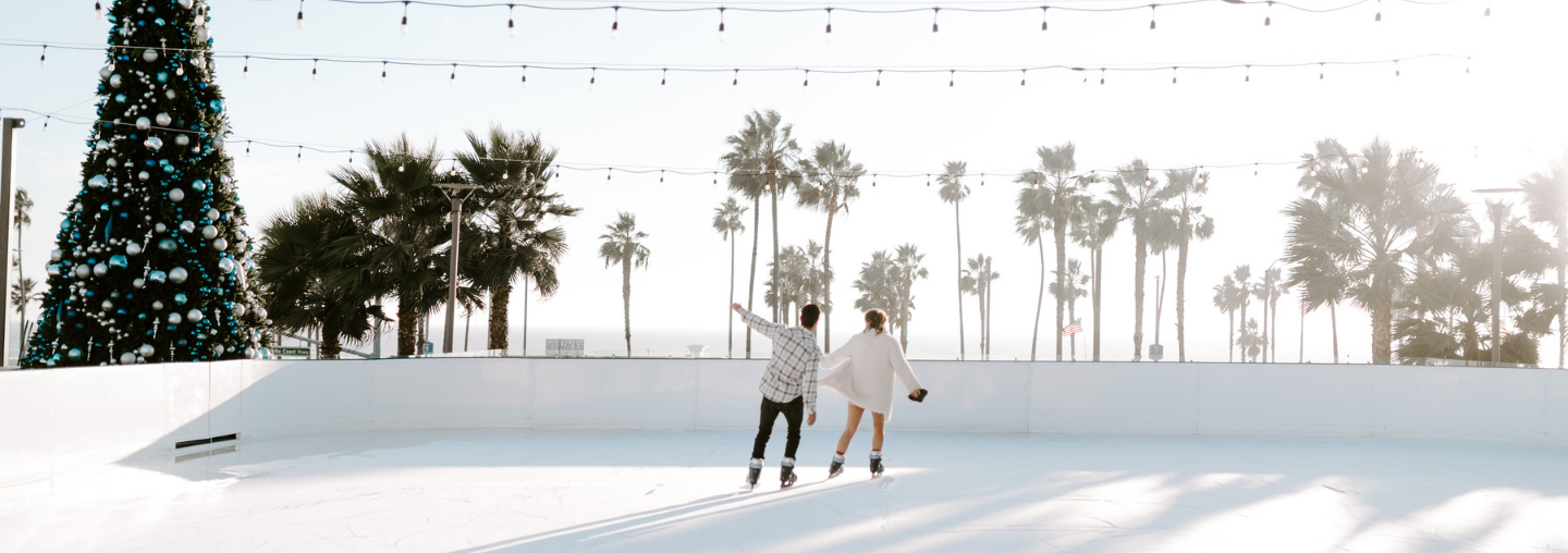 couple on ice rink
