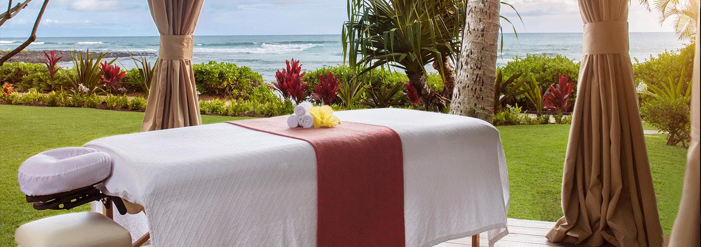 Outdoor spa cabana