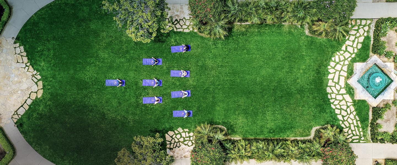 outdoor yoga at top La Jolla Hotels