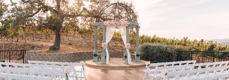 Wedding Ceremony On Vineyard Deck