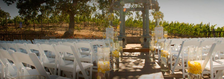 Vineyard Deck Wedding Ceremony Venue