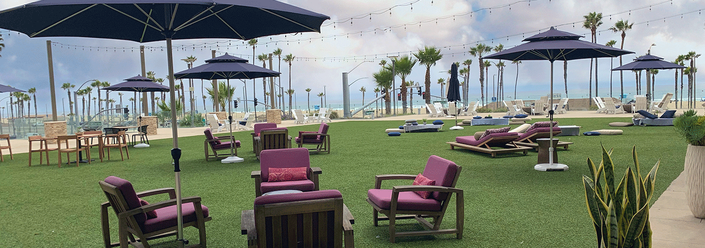ocean lawn relaxation area