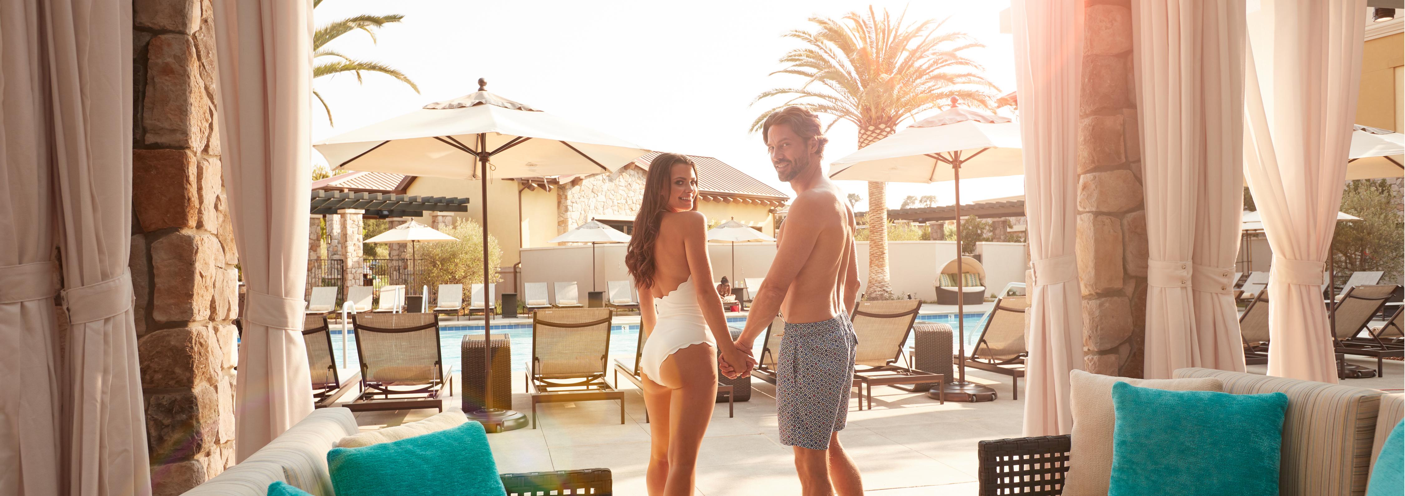 Couple at Vista Collina Pool