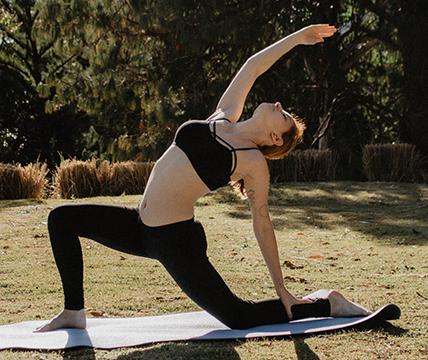 women on yoga mats