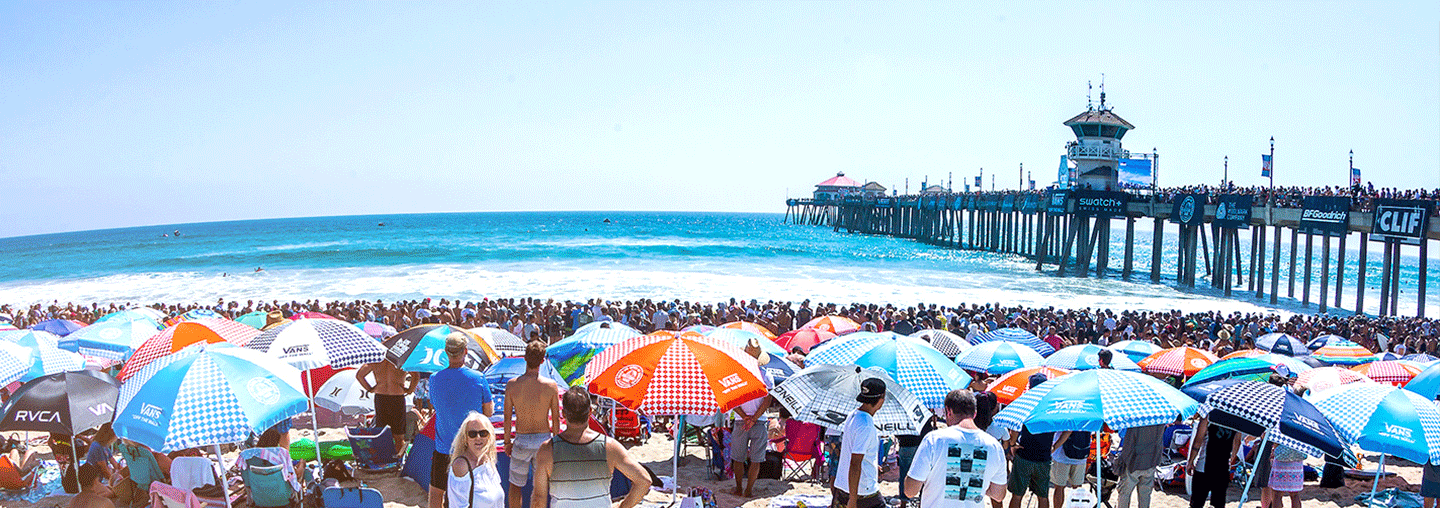 spectators at the US Open of Surf