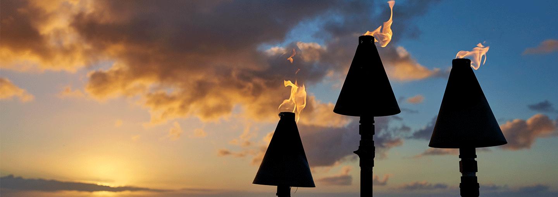 Koa Kea Tiki Torches