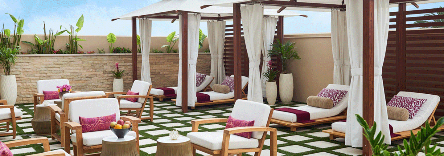 outdoor spa treatment in one of the Best Spas in orange county