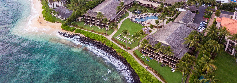 Aerial of Ko'a Kea Resort