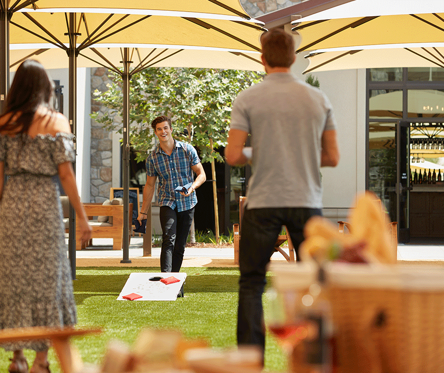 group playing outdoor games