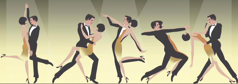 Roaring 20s dancing art