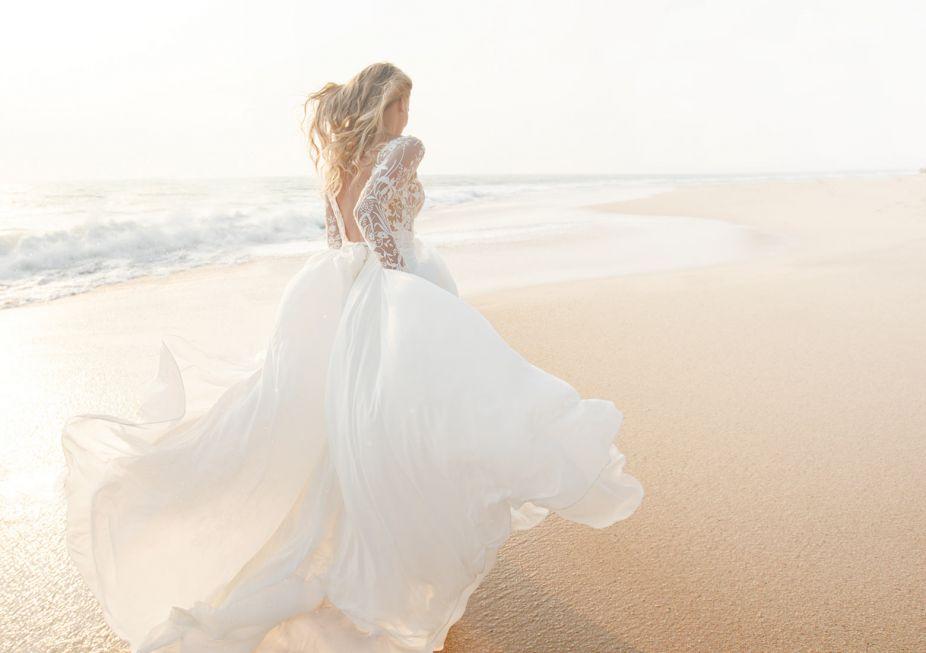 Dream beach wedding bride