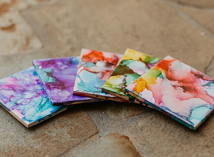 Ink Dye Coasters