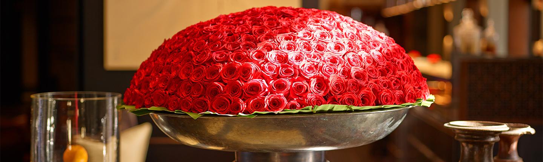 The Setai Lobby Red roses