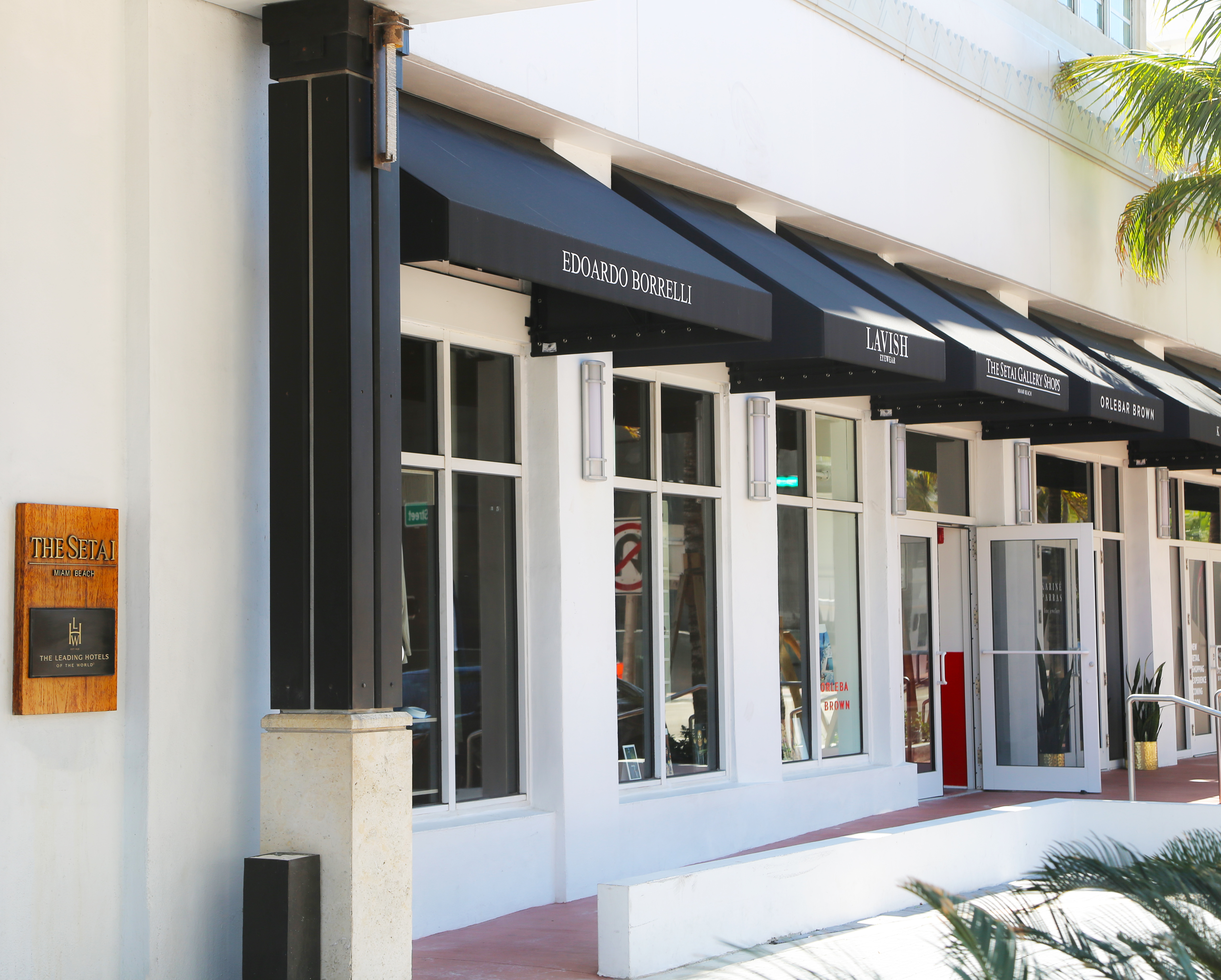 Setai Gallery Shops Edoardo Borrelli, Via Positano, Asprey, Lavish Eyewear, Moreau Paris, Orlebar Brown
