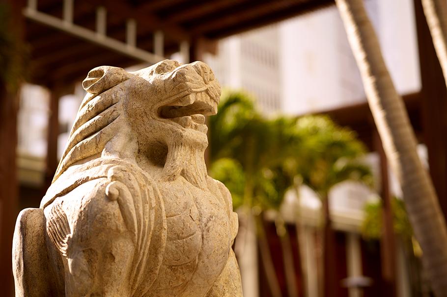 The Setai Courtyard Celestial Animal Sculpture Lion